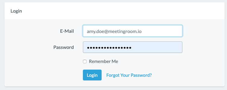 Login To A Virtual Meeting Room