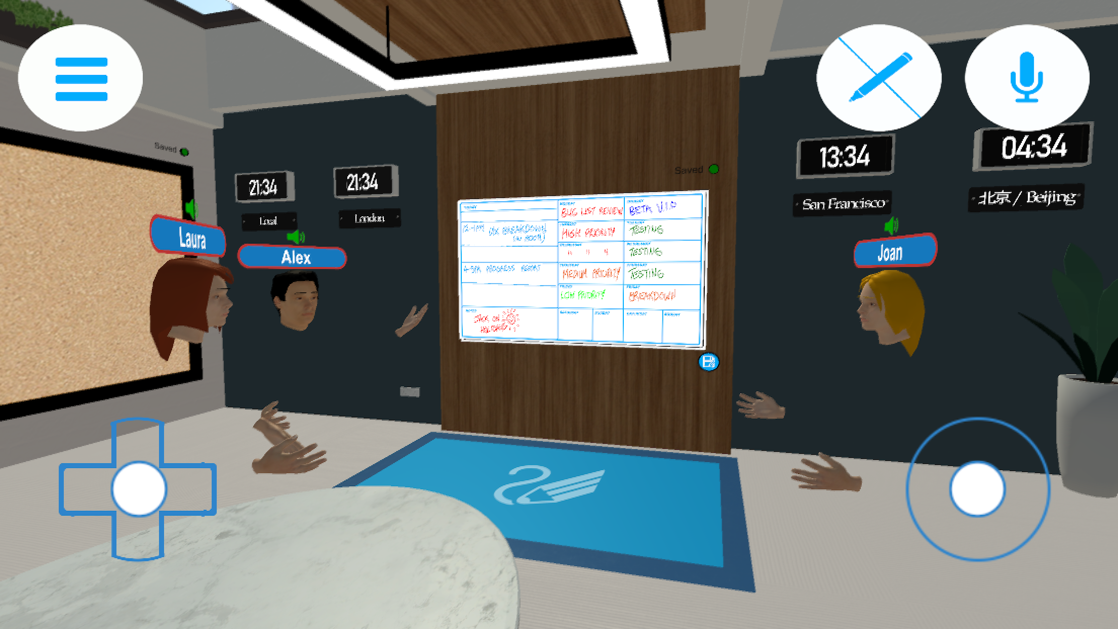 The Virtual Meeting Room Space