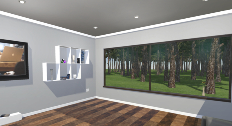 Screen shot of the Virtual Room used for the experiment