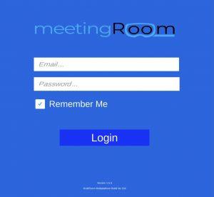 login screenshot of meetingRoom ahead of attending a virtual reality meeting
